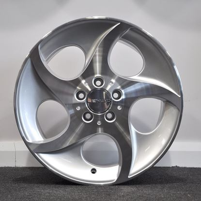 "18"" Lenso Alphards Alloy Wheels  - Polished Silver"