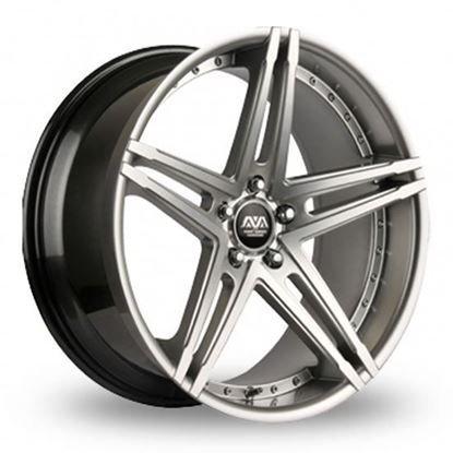 "22"" AVA Hollywood 2 hyper Silver Alloy Wheels"