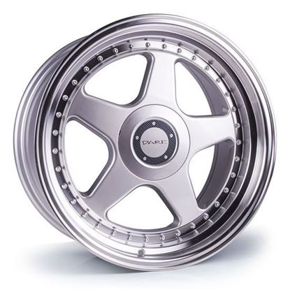 "18"" Dare DR-F5 Silver Polished Lip Alloy Wheels"