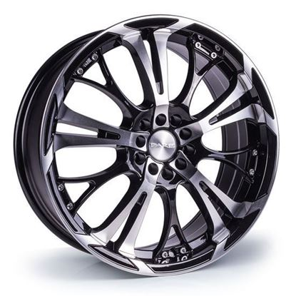 """15"""" Dare Ghost Black Polished Face Alloy Wheels"""