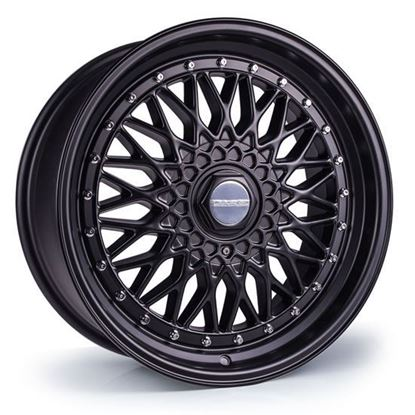"15"" Dare DR-RS Matt Black Chrome Rivets Alloy Wheels"