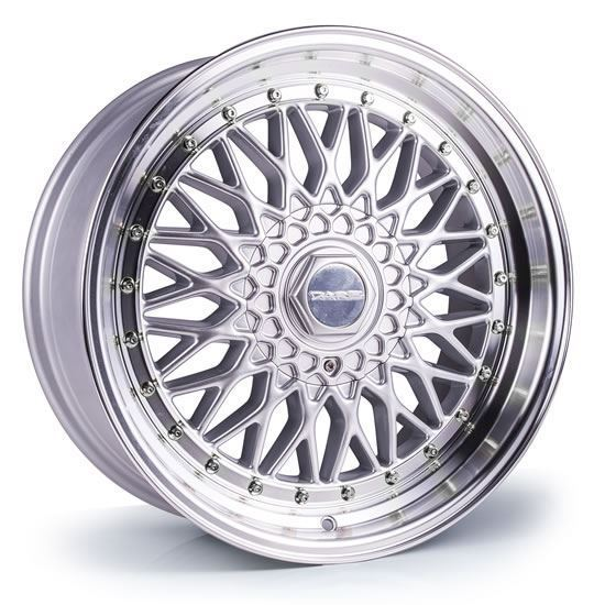 "15"" Dare DR-RS Silver Polished Lip Alloy Wheels"