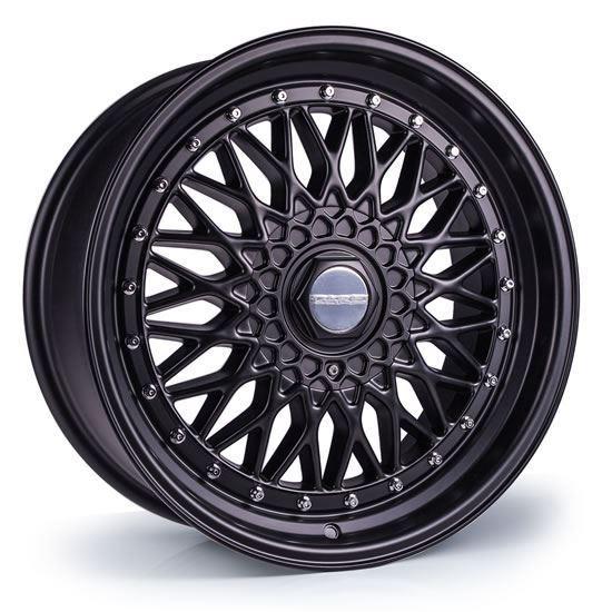 "16"" Dare DR-RS Matt Black Chrome Rivets Alloy Wheels"