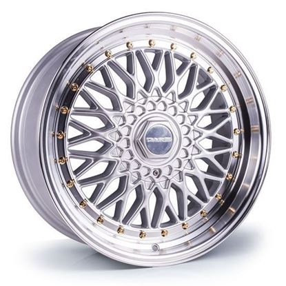 "16"" Dare DR-RS Silver Gold Rivets Alloy Wheels"