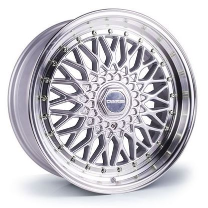 "18"" Dare DR-RS Silver Polished Lip Alloy Wheels"