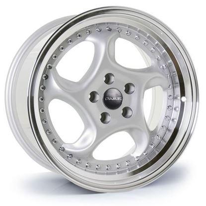 "17"" Dare DR-F6 Silver Polished Lip Alloy Wheels"