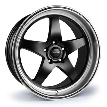 "18"" Dare DR-F7 Satin Black Polished Lip Alloy Wheels"