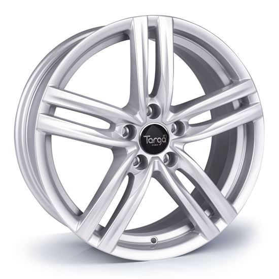 "17"" Targa TG4 Sparkle Silver Alloy Wheels"