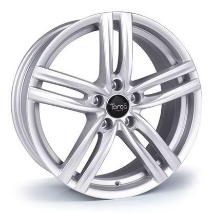 "18"" Targa TG4 Sparkle Silver Alloy Wheels"