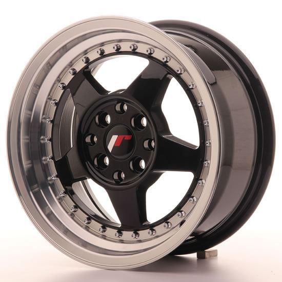 "15"" Japan Racing JR6 Glossy Black Alloy Wheels"