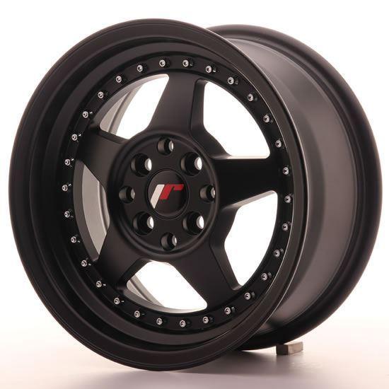 "15"" Japan Racing JR6 Matt Black Alloy Wheels"