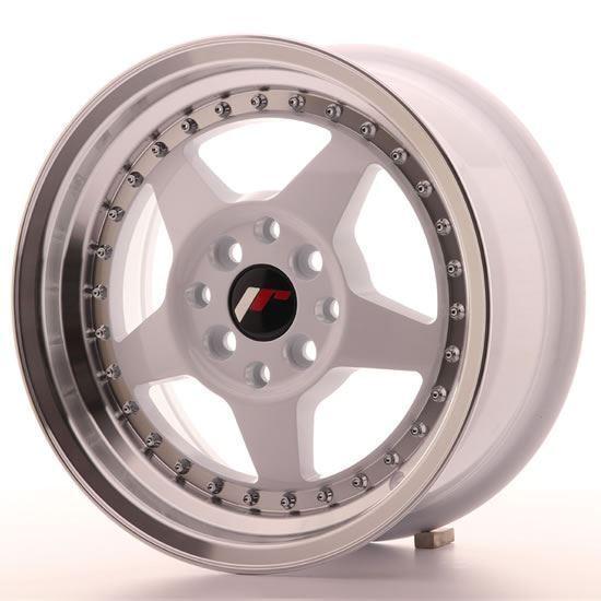 "15"" Japan Racing JR6 White Alloy Wheels"