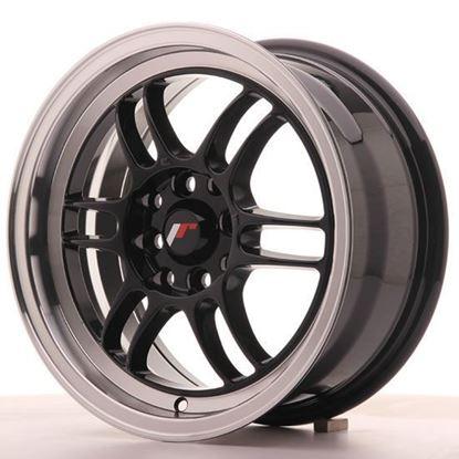 "15"" Japan Racing JR7 Gloss Black Alloy Wheels"