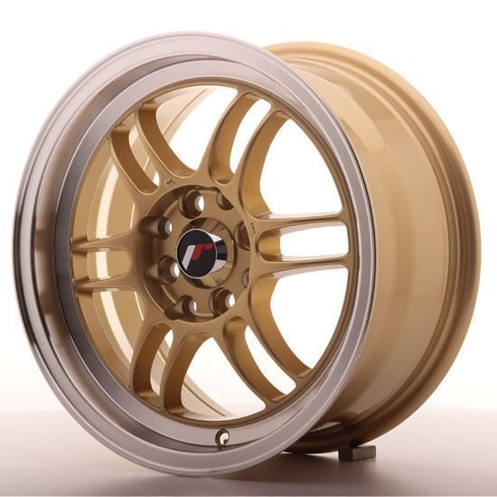 "15"" Japan Racing JR7 Gold Alloy Wheels"