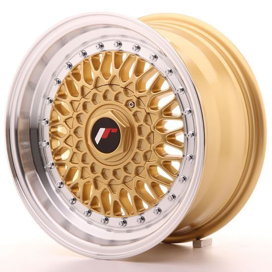 "15"" Japan Racing JR9 Gold Alloy Wheels"