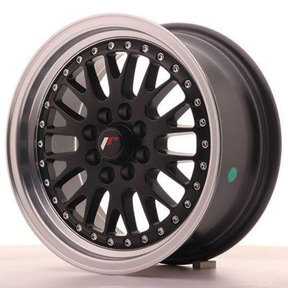 "15"" Japan Racing JR10 Gloss Black Machined Alloy Wheels"