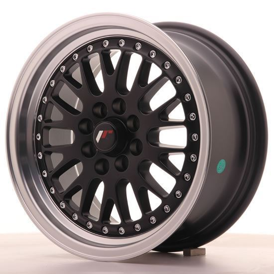 "15"" Japan Racing JR10 Gloss Black Machined Alloy Wheels"