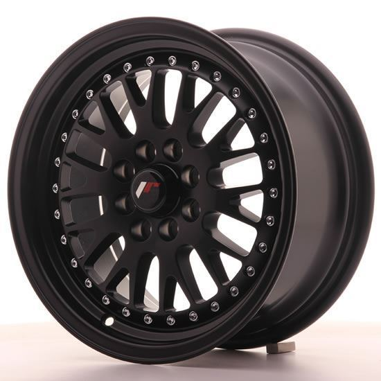 "15"" Japan Racing JR10 Matt Black Alloy Wheels"