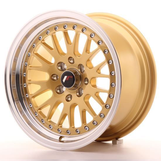 "15"" Japan Racing JR10 Gold Alloy Wheels"