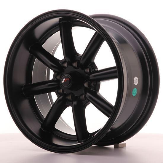 "15"" Japan Racing JR19 Matt Black Alloy Wheels"