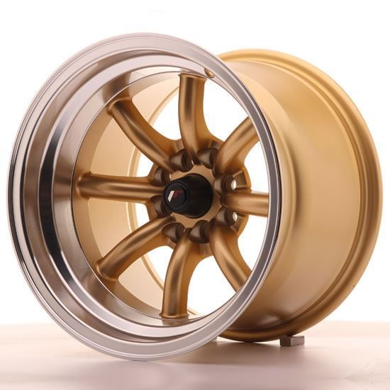 "15"" Japan Racing JR19 Gold Alloy Wheels"