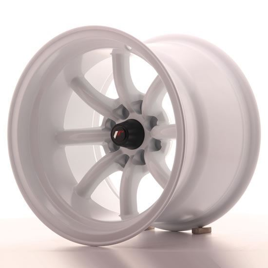 "15"" Japan Racing JR19 White Alloy Wheels"