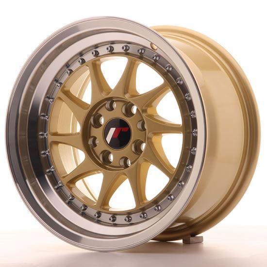 "15"" Japan Racing JR26 Gold Alloy Wheels"