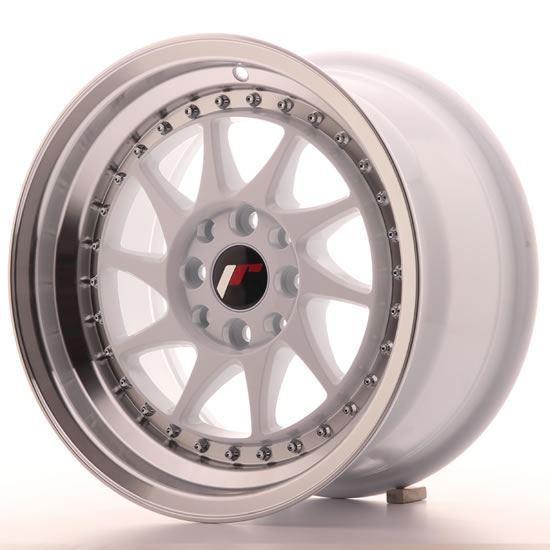"15"" Japan Racing JR26 White Alloy Wheels"