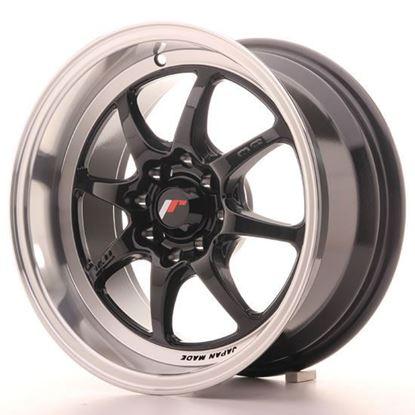 "15"" Japan Racing TF2 Gloss Black Alloy Wheels"