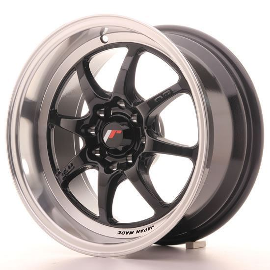 "15"" Japan Racing TF2 Gloss Black Alloy Wheels"