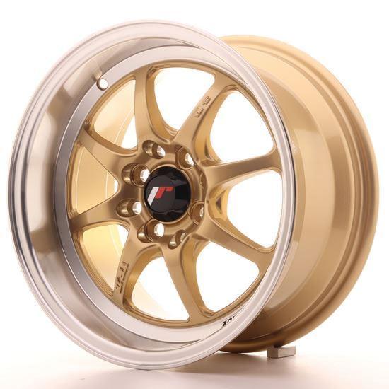 "15"" Japan Racing TF2 Gold Alloy Wheels"
