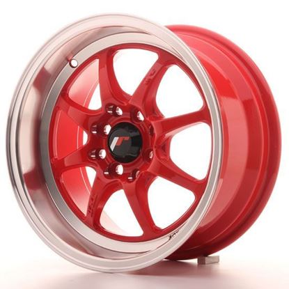 "15"" Japan Racing TF2 Red Alloy Wheels"