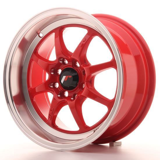 """15"""" Japan Racing TF2 Red Alloy Wheels"""