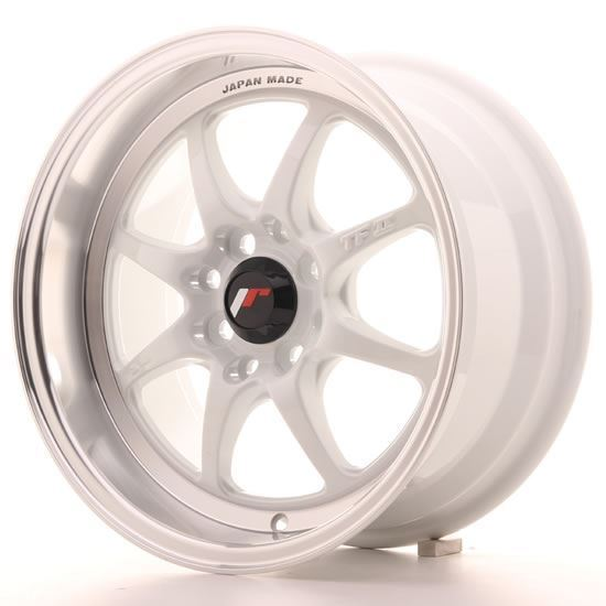 "15"" Japan Racing TF2 White Alloy Wheels"