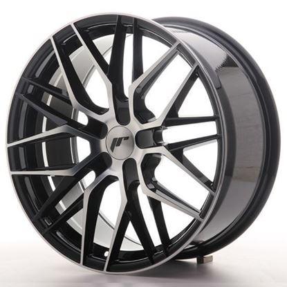 "19"" Japan Racing JR28 Black Machined Alloy Wheels"