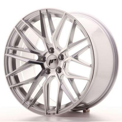 "19"" Japan Racing JR28 Silver Machined Alloy Wheels"