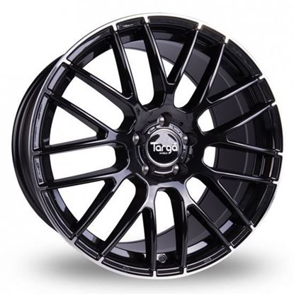 "19"" Targa TG2 Gloss Black Polished Tip Alloy Wheels"