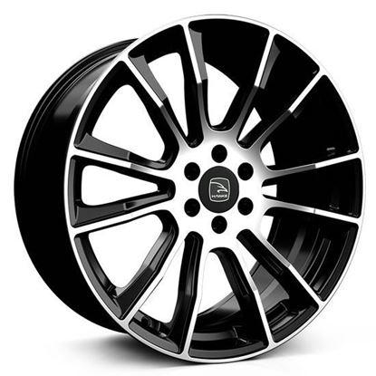 """20"""" Hawke Denali Black Polished Alloy Wheels"""