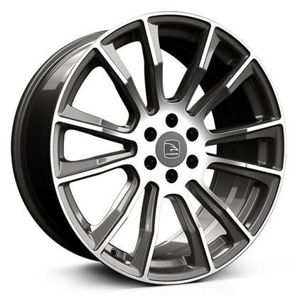 """20"""" Hawke Denali Gunmetal Polished Alloy Wheels"""