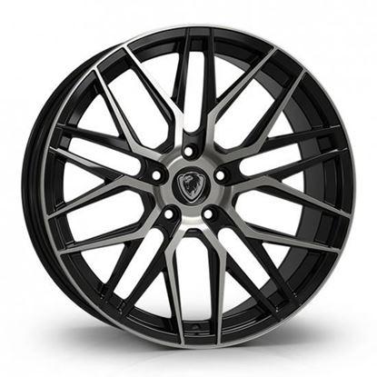 "20"" Cades Hera Black Polished Alloy Wheels"