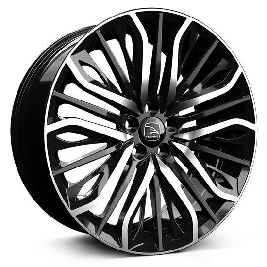 "20"" Hawke Vega Black Polish Alloy Wheels"