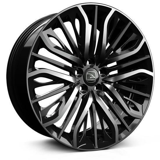 """22"""" Hawke Vega Black Shadow Alloy Wheels"""