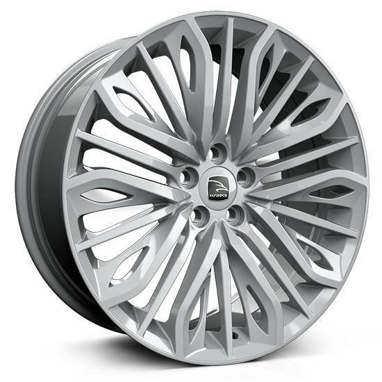 """22"""" Hawke Vega Silver Alloy Wheels"""