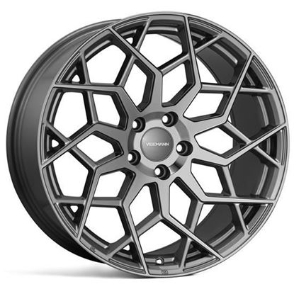 """21"""" Veemann V-FS42 Gloss Graphite Alloy Wheels"""