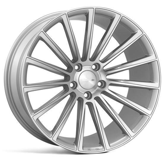 "18"" Veemann V-FS55 Silver Machined Alloy Wheels"