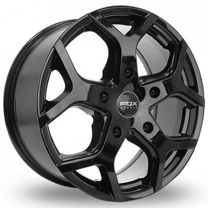 "18"" Fox Viper 4 Gloss Black Alloy Wheels"