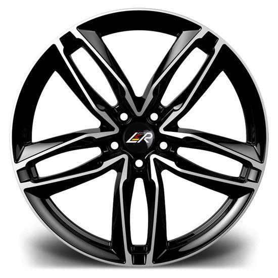 "19"" LMR Zeus Black Polished Alloy Wheels"