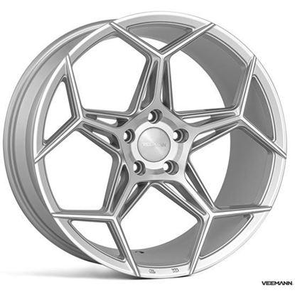 "19"" Veemann V-FS40 Silver Machined Alloy Wheels"