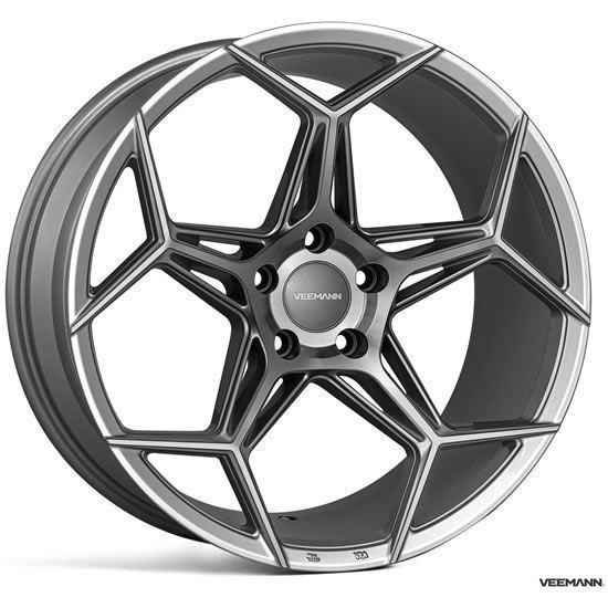"""19"""" Veemann V-FS40 Gloss Graphite Alloy Wheels"""