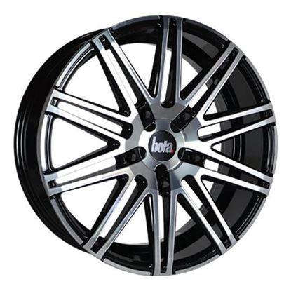 "20"" Bola B20 Black Polished Face Transit Custom Alloy Wheels"